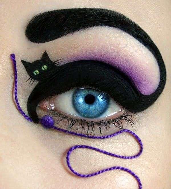 make-up-stile-gatto-con-filo-e-gomitolo